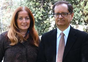 Giuliana Bianchini, direttore produzione News Rti e Claudio Fico vicedirettore TG5