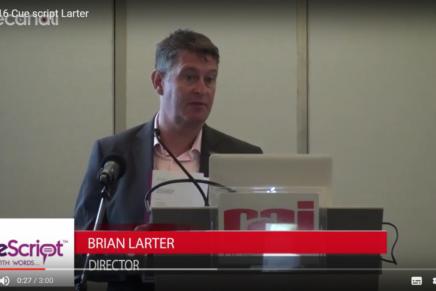 IBC 2016:  Brian Larter, CueScript
