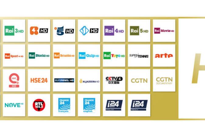 Canale 5, Italia 1 e Rete 4 in HD su tivùsat